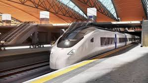 Picture of a high speed train