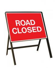Picture of a 'road closed' sign